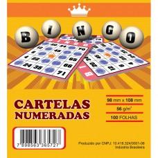 Cartelas para Bingo 98mmx108mm 56g 4 Pcts x 15Blocos Azul - VHC