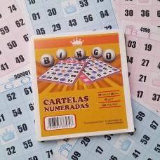 Cartelas para Bingo 98mmx108mm 56g 4 Pcts x 15Blocos Azul e Rosa - VHC