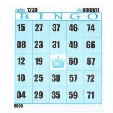 Cartelas para Bingo 98mmx108mm 56g 15Blocos com 100Fls Azul - VHC