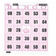 Cartelas para Bingo 98mmx108mm 56g 15Blocos com 100Fls Rosa - VHC