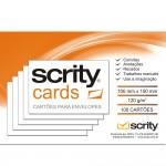 Cartões Branco para Envelopes Carta 100mmx150mm 120g 5Pcts com 100 - Scrity