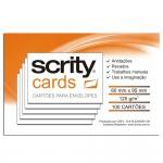 Cartões Branco para Envelopes Visita 60mmx90mm 120g 10Pcts com 100 - Scrity