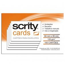 Cartões Branco para Envelopes Visita 60mmx90mm 120g 1Pct com 100 - Scrity